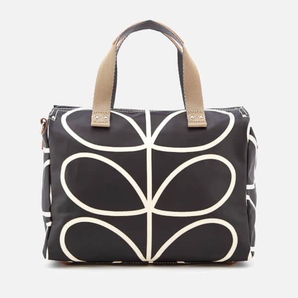 Orla Kiely Women s Giant Linear Stem Messenger Bag - Liquorice  Image 2 78ca632619