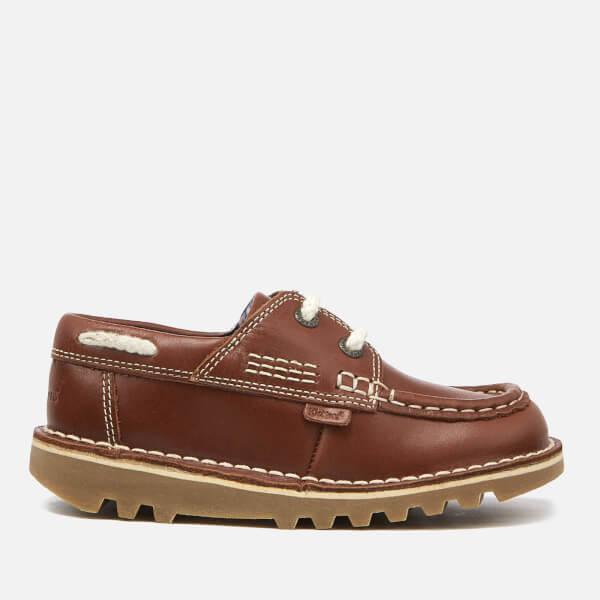 Kickers Kids' Kick Boatee Shoes - Dark Tan