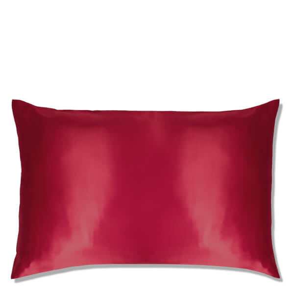 Slip Silk Pillowcase Queen Red Free Shipping