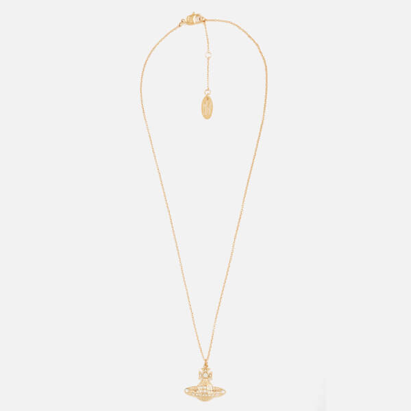 Vivienne Westwood Women's Minnie Bas Relief Pendant Necklace - White Crystal