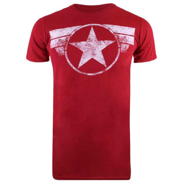 Marvel Men's Cap Logo T-Shirt - Antique Cherry Red