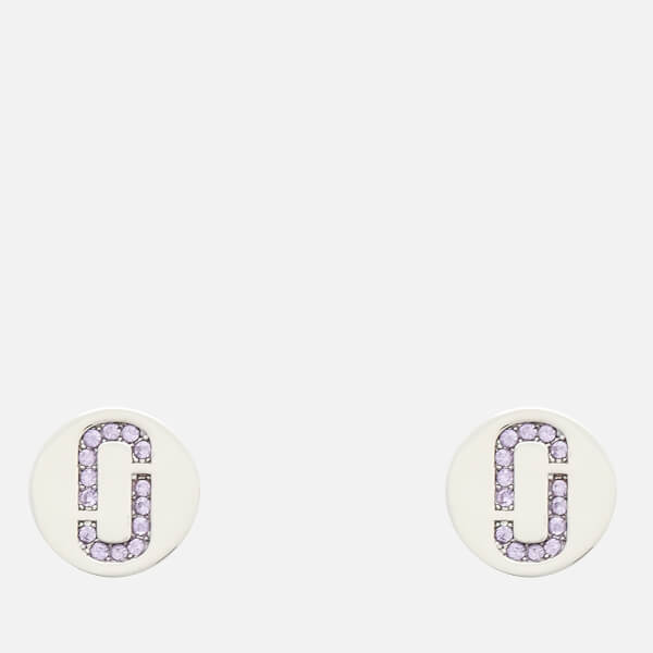 Marc Jacobs Women's Double J Pave Studs - Silver