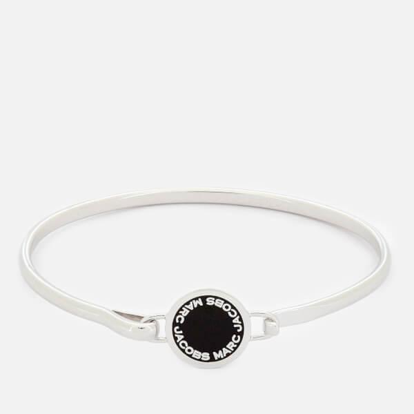 Marc Jacobs Women's Logo Disc Hinge Bracelet - Black