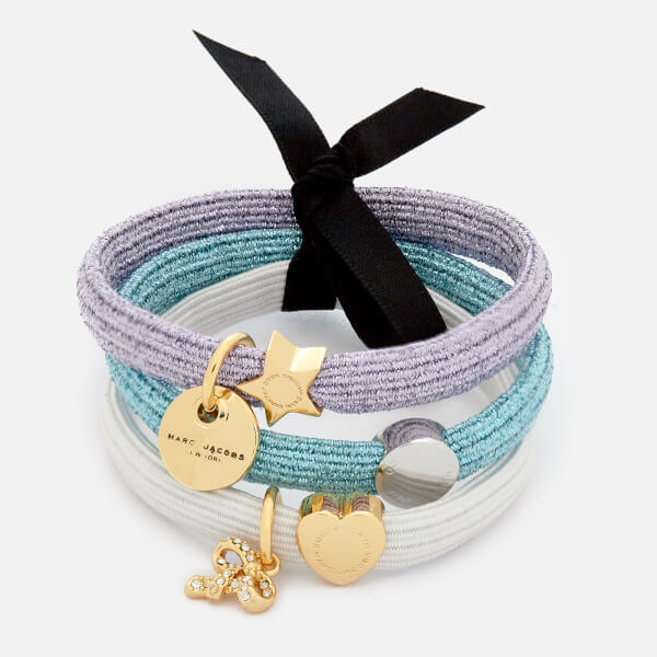 Marc Jacobs Women's MJ Coin Bow Pony Bracelet - White Multi