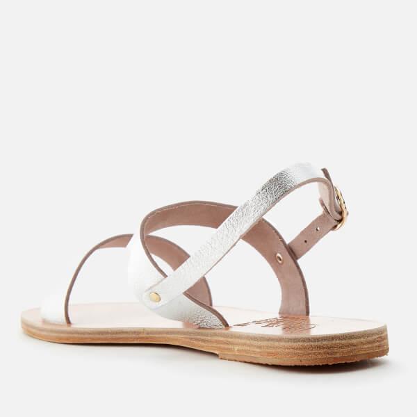 Ancient Greek Sandals Women's Clio Metallic Double Strap Sandals - Metal - UK 4