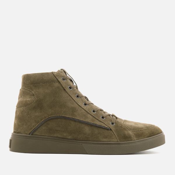 Diesel Men's S-Vipe Mid Suede Hi-Top Trainers - Green