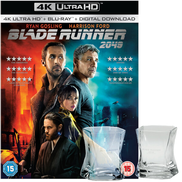 Blade Runner 2049 - Limited Edition 4K Ultra HD and Blu-ray with 2 Whiskey Glasses Set