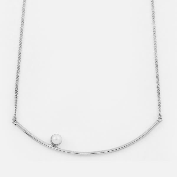 Cornelia Webb Women's Refined Large Pearl Necklace - Silver