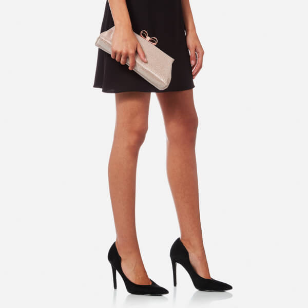 aff24cb15b1df Ted Baker Women's Glitter Bow Evening Bag - Rose Gold: Image 3