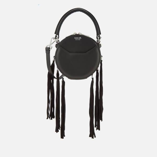 SALAR Women's Lea Fringe Cross Body Bag - Black