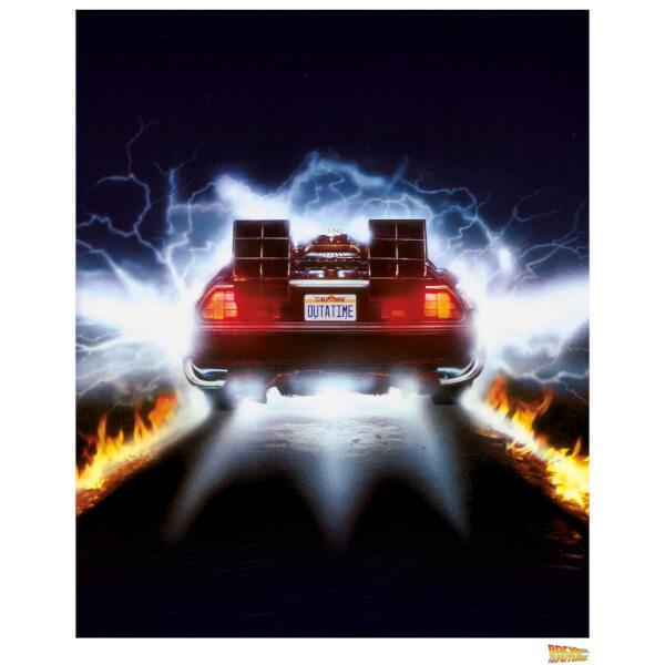 Back to the Future Delorean Rear ViewLimited Edition Art Print
