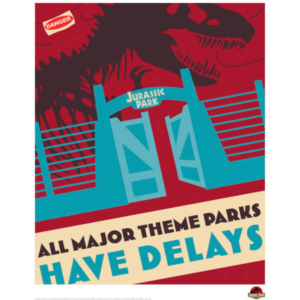Jurassic Park Theme Park Delays Limited Edition Art Print