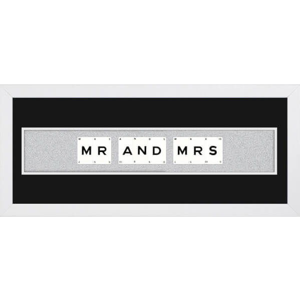 Playing Card Co 'Mr and Mrs' Framed Vintage Style Playing Cards - 66x 25cm