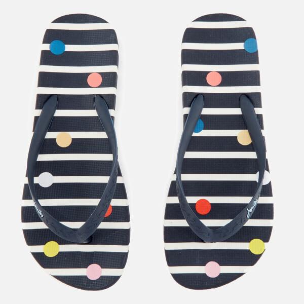 Joules Women's Flip Flops - Navy Fun Spot