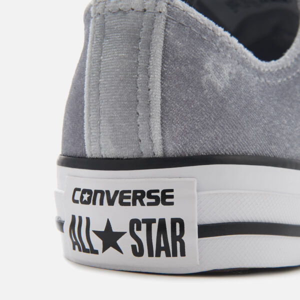 1db880ec7c4 Converse Women s Chuck Taylor All Star Ox Trainers - Wolf Grey White White