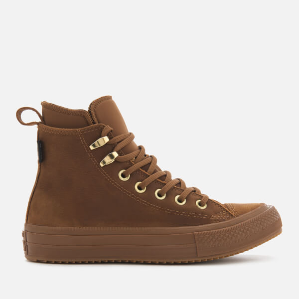 Converse Women's Chuck Taylor All Star Waterproof Boots - Brown/Brown/Brass:  Image