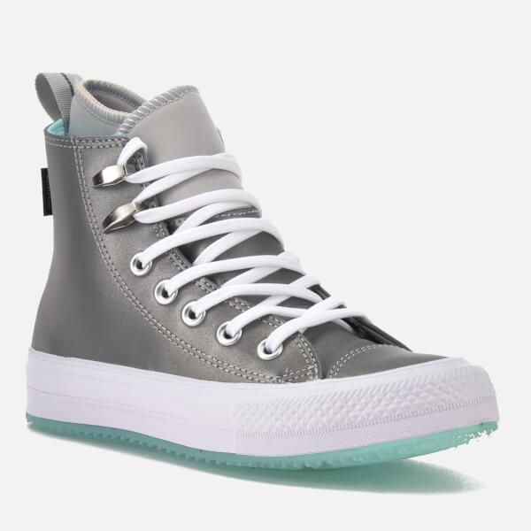 05f849fc60e Converse Women s Chuck Taylor All Star Waterproof Boots - Pure  Platinum Light Aqua White