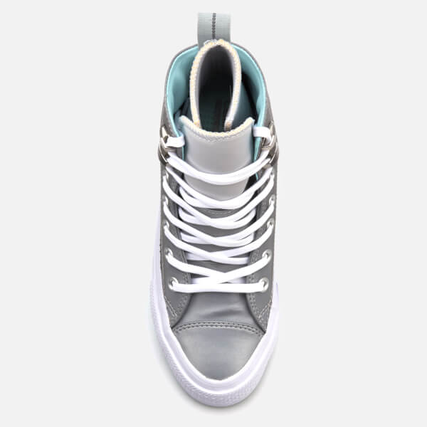 ab724f095cf875 Converse Women s Chuck Taylor All Star Waterproof Boots - Pure Platinum  Light Aqua White