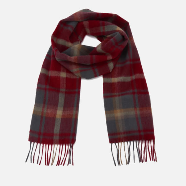 Barbour Shilhope Check Scarf - Dark Maple