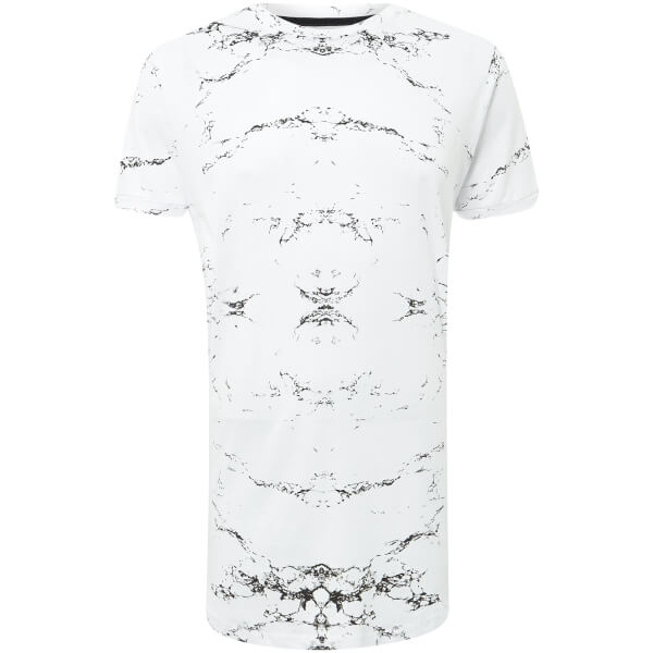 Brave Soul Men's Marb T-Shirt - White