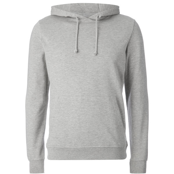 Brave Soul Men's Clarence Hoody - Light Grey Marl