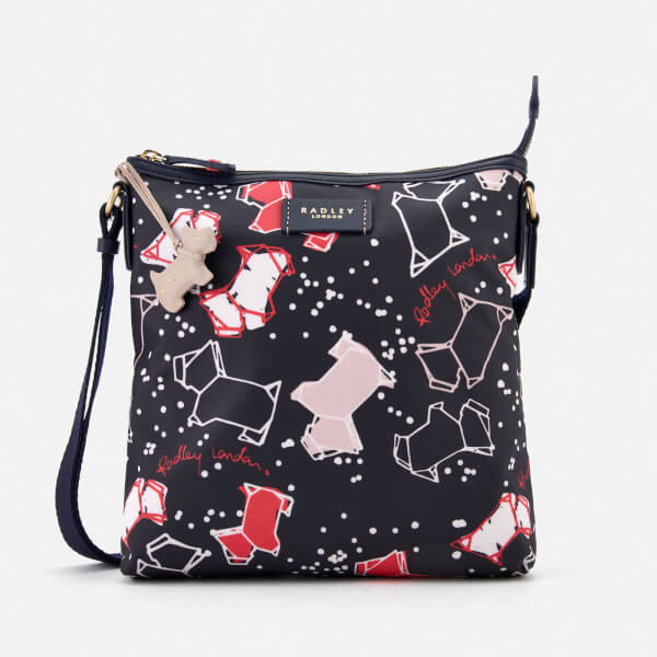 Radley Women's Speckle Dog Medium Zip-Top Cross Body Bag - Ink