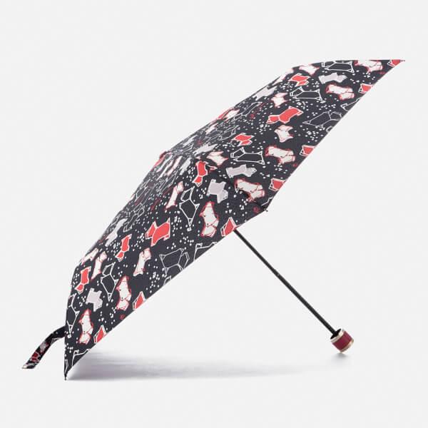Radley Women's Speckle Dog Mini Telescopic Umbrella - Ink