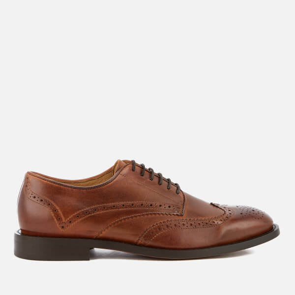 Hudson London Men's Whitman Leather Brogues - Cognac