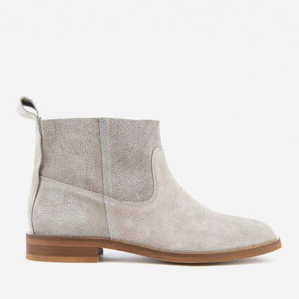 Hudson London Women's Odina Suede Flat Boots - Grey