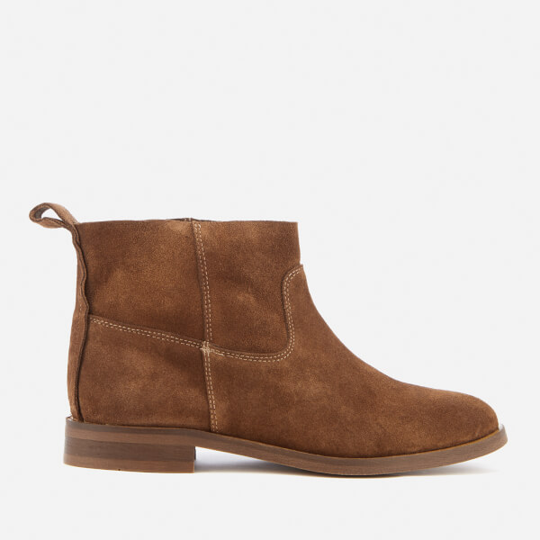 Hudson London Women s Odina Suede Flat Boots - Tan Womens Footwear ... 363ff4ad45a8