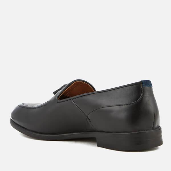 H By Hudson Dickson Leather Loafers - Black Hudson Ofv6fsmVG