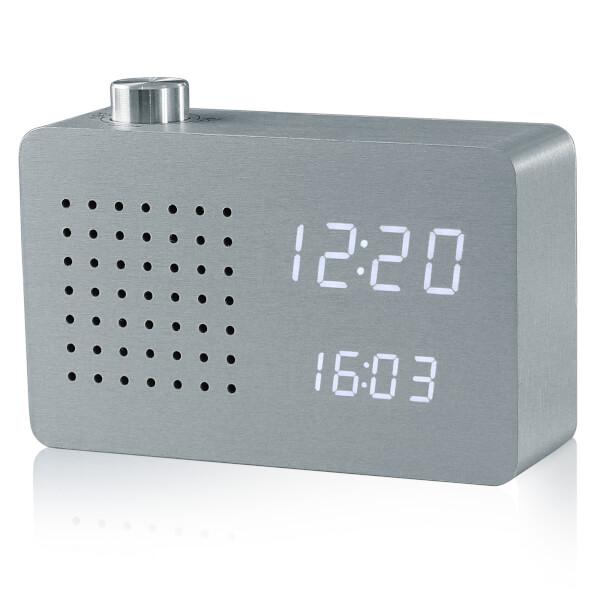 Gingko Radio Click Clock - Aluminium
