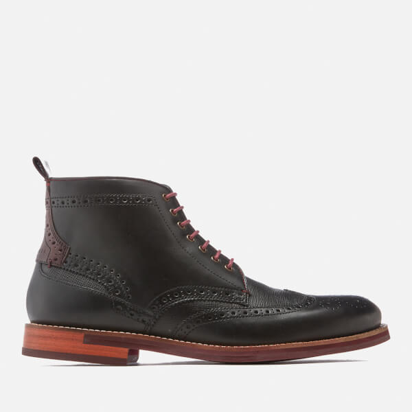 Ted Baker Men's Hjenno Leather Lace Up Boots - Black
