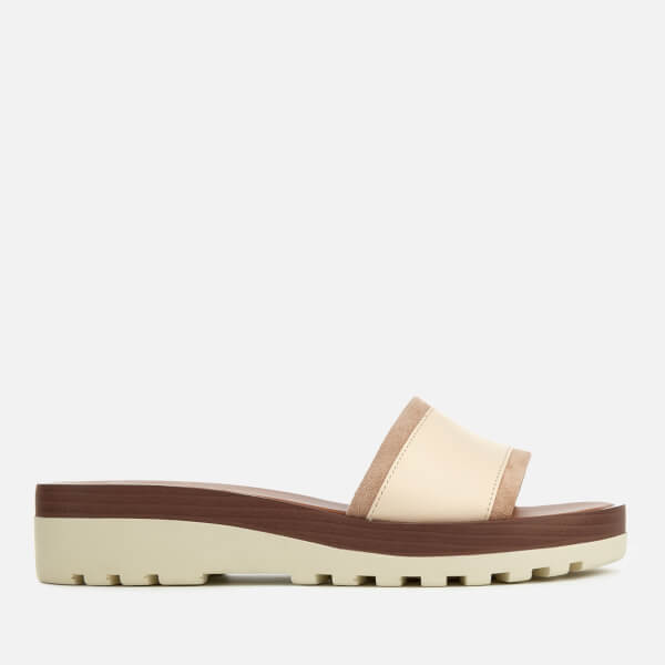 a35347a9de35 See By Chloé Women s Leather Mules - White  Image 1