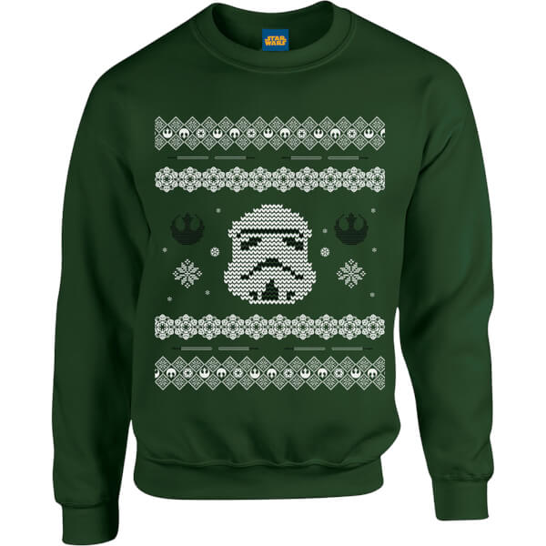 Star Wars Christmas Stormtrooper Knit Green Christmas Sweatshirt