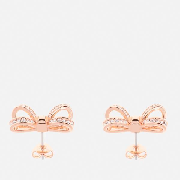 081f64c73 Ted Baker Women's Olitta Mini Opulent Pavé Bow Earrings - Rose Gold/Crystal:  Image