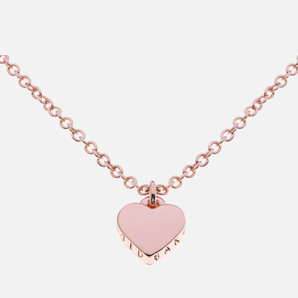 3e21dd5260280 Ted Baker Women s Hara Tiny Heart Pendant Necklace - Rose Gold  Image 1