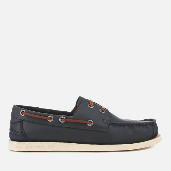 Superdry Men's Leather Deck Shoes - Darkest Navy