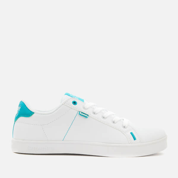 Superdry Women's SD Tennis Trainers - Optic/Fluro Aqua