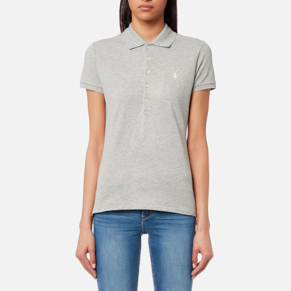 Polo Ralph Lauren Women s Julie T-Shirt - Andover Heather - Free UK ... f846c1854