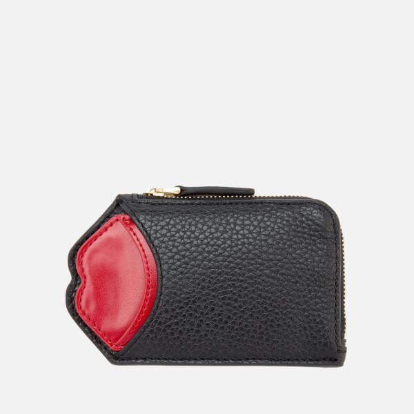 Lulu Guinness Women's Liliana Pop Up Lip Wallet - Black/Red