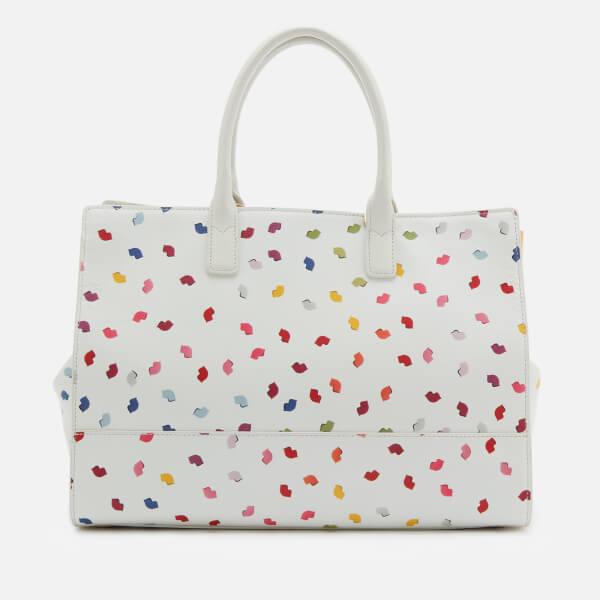 6d70c746a8 Lulu Guinness Women s Daphne Confetti Lip Print Tote Bag - Pale Grey Multi   Image