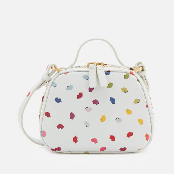 Lulu Guinness Women's Henrietta Confetti Lip Print Tote Bag - Pale Grey/Multi