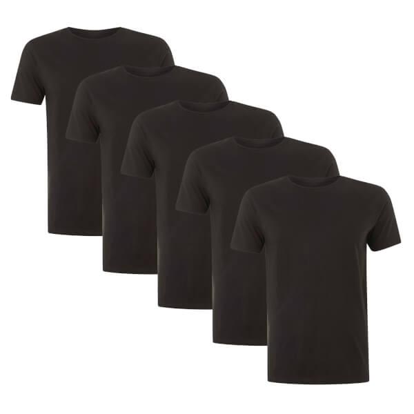 Native Shore Men's Essential 5 Pack T-Shirt - Black