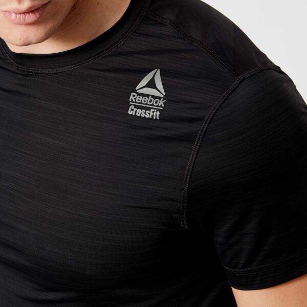 Reebok Men s Cross Fit Activchill Vent Short Sleeve T-Shirt - Black  Image 4 6b63b52c81a