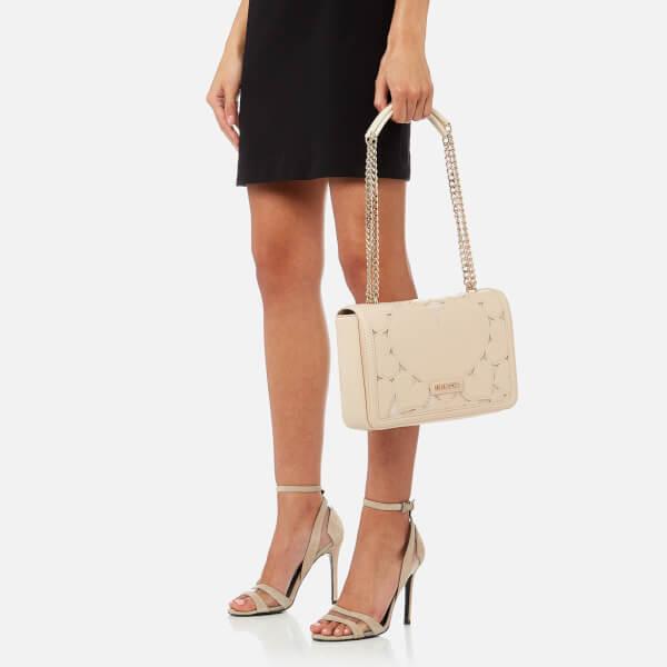 53f428c2d86b Love Moschino Women s Heart Embossed Cross Body Bag - Cream Clothing ...