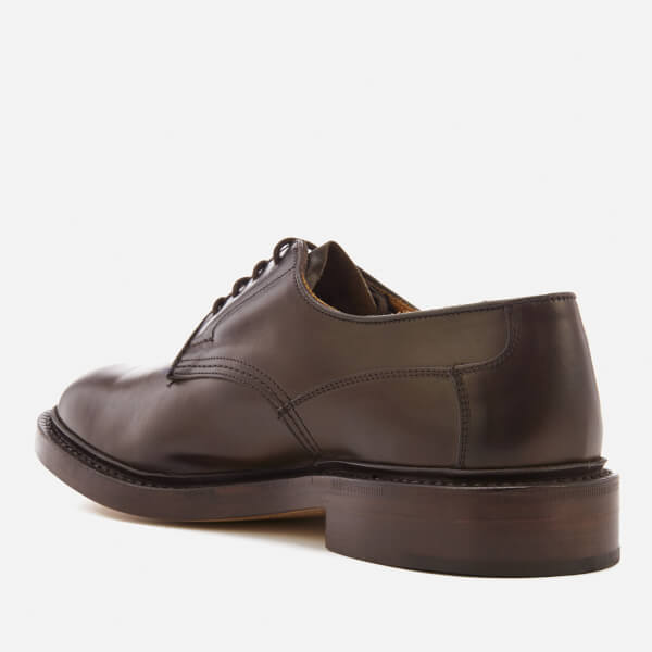 Woodstock Espresso Burnished Leather Lace-Up Shoes Trickers H35ckKY