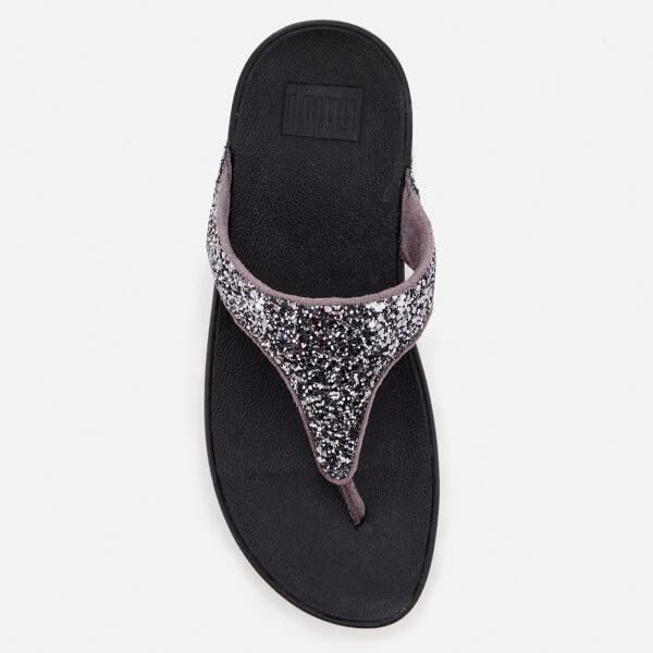 2d5f490d08a FitFlop Women s Glitterball Toe Post Sandals - Pewter Womens ...