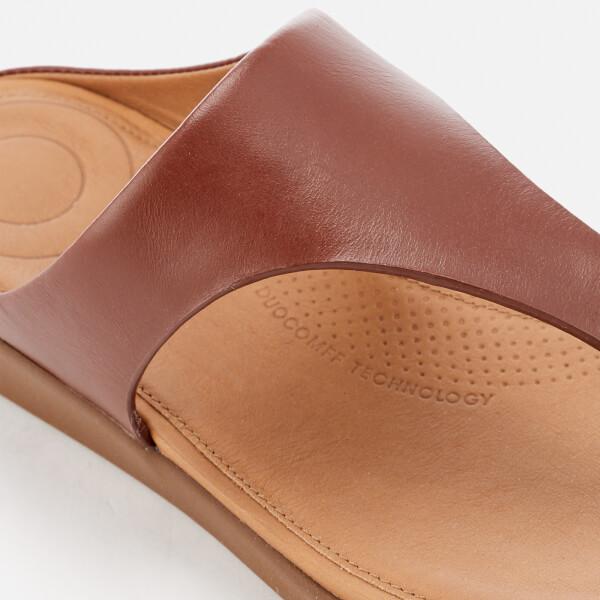 8c7b3b53f7a1a2 FitFlop Women s Banda II Leather Toe Post Sandals - Cognac  Image 4