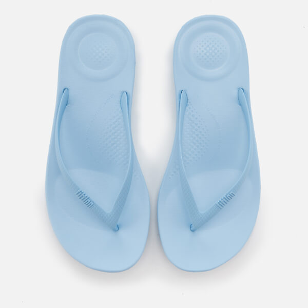 52fcf3d63b1739 FitFlop Women s iQushion Ergonomic Flip Flops - Powder Blue  Image 1